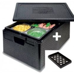 Thermobox 1/1 GN  16 cm + koelopzet