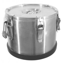 Insulated food container with excentric locks, 10 liter