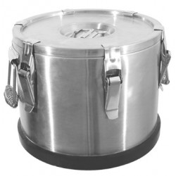 Insulated food container with excentric locks, 15 liter