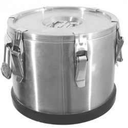 Insulated food container with excentric locks, 25 liter