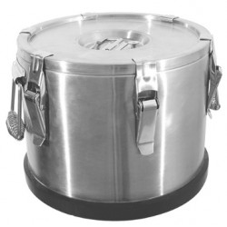 Insulated food container with excentric locks, 35 liter