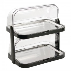Double cooled buffet display