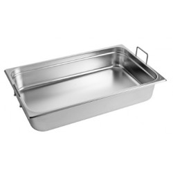 Gastronorm Pan 1/1 GN 100 mm - recessed handles