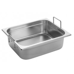 Gastronorm Pan 1/2 GN 100 mm - recessed handles