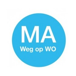 Washable Label 'Ma weg op Wo' 19mm