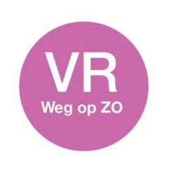 Washable Label 'Vr weg op Zo' 19mm