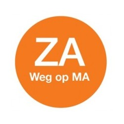 Washable Label 'Za weg op Ma' 19mm