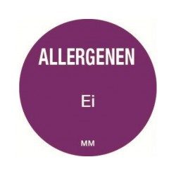 Allergy Label 'Egg' round 25 mm, 1000/roll