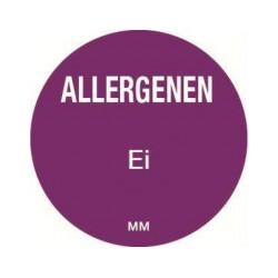 Allergy Label 'Egg' round 25 mm, 1000/roll