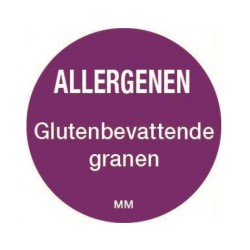 Allergy Label 'Cereal' round 25 mm, 1000/roll