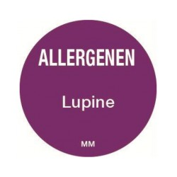 Allergy Label 'Lupin' round 25 mm, 1000/roll