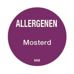 Allergy Label 'Mustard' round 25 mm, 1000/roll