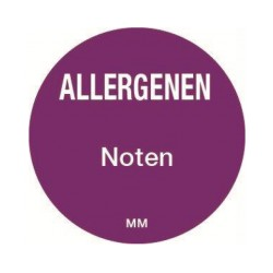 Allergy Label 'Nuts' round 25 mm, 1000/roll