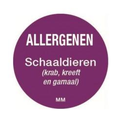 Allergy Label 'Crustaceans' round 25 mm, 1000/roll