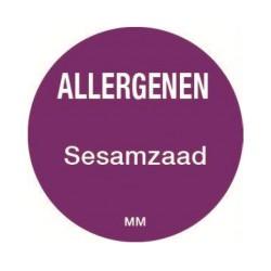 Allergy Label 'Sesame' round 25 mm, 1000/roll