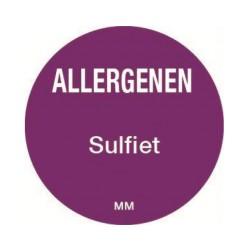 Allergy Label 'Sulfite' round 25 mm, 1000/roll