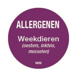 Allergy Label 'Molluscs' round 25 mm, 1000/roll