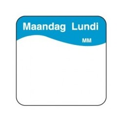 Easy Removable Label 'Monday', 1000/roll