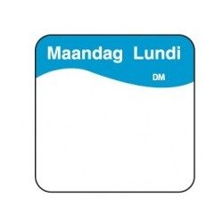 Completely Soluable Sticker 'Monday' 500/roll