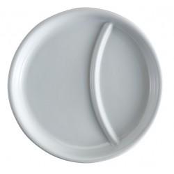 2-compartment Porcelain Plate