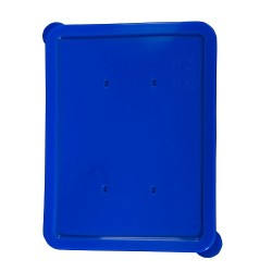 Rectangular lid blue