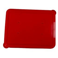 Rectangular lid red
