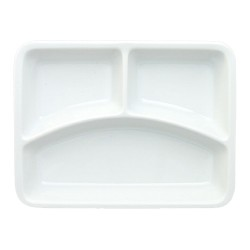Porcelain 3-compartment menu tray