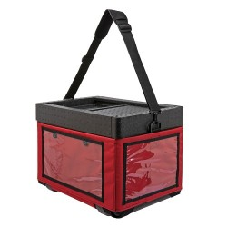 Beach Box with textile bag red
