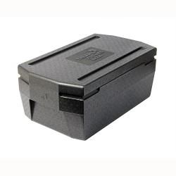 Cateringbox 1/1 GN DeLuxe 21 cm zwart