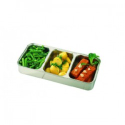 Duo 3-Compartment dish stainless steel