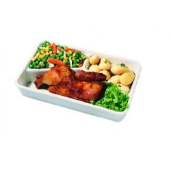 Major 3-compartment porcelain dish