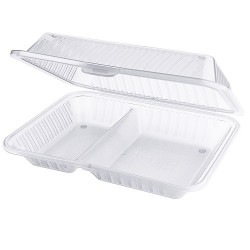 PP 2-compartment dish white (12 st)