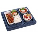 Dinner boxes for main course with side dishes